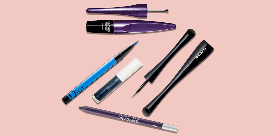 """<p>After a year of staying inside, this summer's <a href=""""https://www.goodhousekeeping.com/beauty/a35279700/beauty-makeup-trends-2021/"""" rel=""""nofollow noopener"""" target=""""_blank"""" data-ylk=""""slk:hottest trends"""" class=""""link rapid-noclick-resp"""">hottest trends</a> are all about color, and that extends to makeup. The days of black <a href=""""https://www.goodhousekeeping.com/beauty/makeup/how-to/g3490/winged-eyeliner-for-every-eye-shape/"""" rel=""""nofollow noopener"""" target=""""_blank"""" data-ylk=""""slk:cat eyes"""" class=""""link rapid-noclick-resp"""">cat eyes</a> and neutral smokey eyes are long gone — this year's makeup trends include graphic, colorful eyeliner and bright wings. </p><p>Colorful eyeliner instantly draws attention to your eyes and makes every eye color pop. Whether you're looking for a bright blue to add a summery twist or an electric <a href=""""https://www.goodhousekeeping.com/beauty/makeup/g35312680/best-pink-makeup-looks/"""" rel=""""nofollow noopener"""" target=""""_blank"""" data-ylk=""""slk:pink look"""" class=""""link rapid-noclick-resp"""">pink look</a> to keep it playful, there is a colorful eyeliner out there for everyone. </p><p>The <a href=""""https://www.goodhousekeeping.com/institute/about-the-institute/a19748212/good-housekeeping-institute-product-reviews/"""" rel=""""nofollow noopener"""" target=""""_blank"""" data-ylk=""""slk:Good Housekeeping Institute"""" class=""""link rapid-noclick-resp"""">Good Housekeeping Institute</a> Beauty Lab is constantly testing new beauty products to find the best of the best. While the Beauty Lab has never tested colorful eyeliners specifically, the Lab has conducted a <a href=""""https://www.goodhousekeeping.com/beauty-products/eyeliner-reviews/g5013/best-eyeliner-reviews/"""" rel=""""nofollow noopener"""" target=""""_blank"""" data-ylk=""""slk:longwear eyeliner test"""" class=""""link rapid-noclick-resp"""">longwear eyeliner test</a>, many of which have colorful variations. In our last eyeliner test, the Lab chose 139 testers to try six pencils and six liquid eyeliners to find which ones were the easiest to apply, la"""