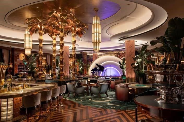 Delilah, a supper club at Wynn Las Vegas, boasts an art deco-themed interior and has attracted stars like Justin Bieber and Kendall Jenner.