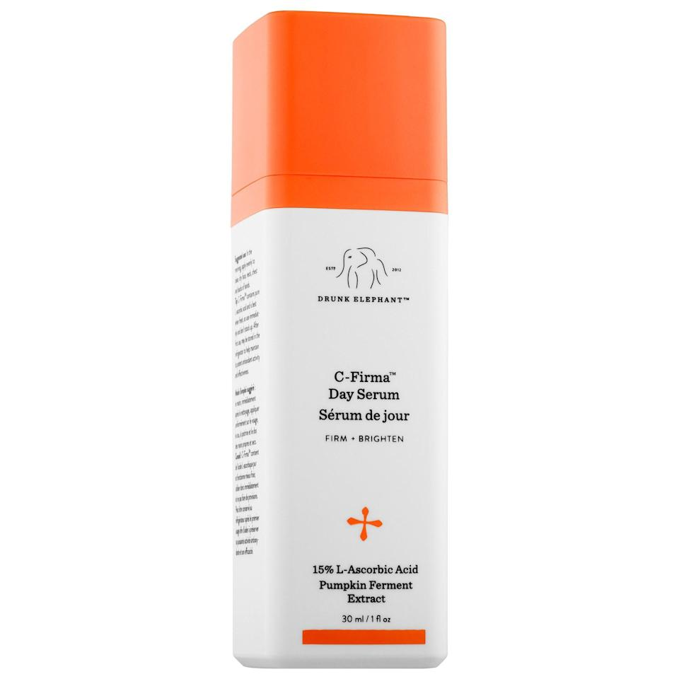 "<p><strong>Drunk Elephant</strong></p><p>Sephora</p><p><strong>$80.00</strong></p><p><a href=""https://go.redirectingat.com?id=74968X1596630&url=https%3A%2F%2Fwww.sephora.com%2Fproduct%2Fc-firma-day-serum-P400259&sref=https%3A%2F%2Fwww.seventeen.com%2Fbeauty%2Fg34533967%2Fsephora-holiday-sale-2020%2F"" rel=""nofollow noopener"" target=""_blank"" data-ylk=""slk:Shop Now"" class=""link rapid-noclick-resp"">Shop Now</a></p>"