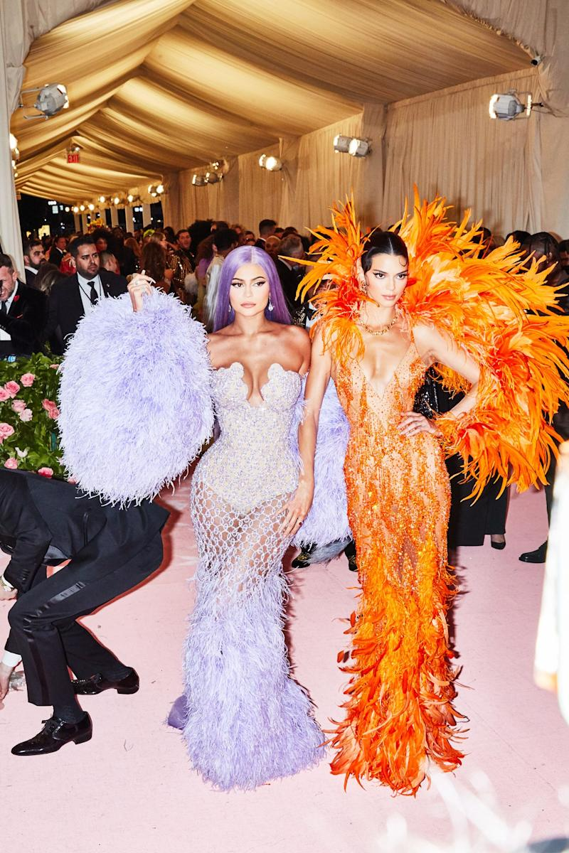 Kylie and Kendall Jenner on the red carpet at the Met Gala in New York City on Monday, May 6th, 2019. Photograph by Amy Lombard for W Magazine.