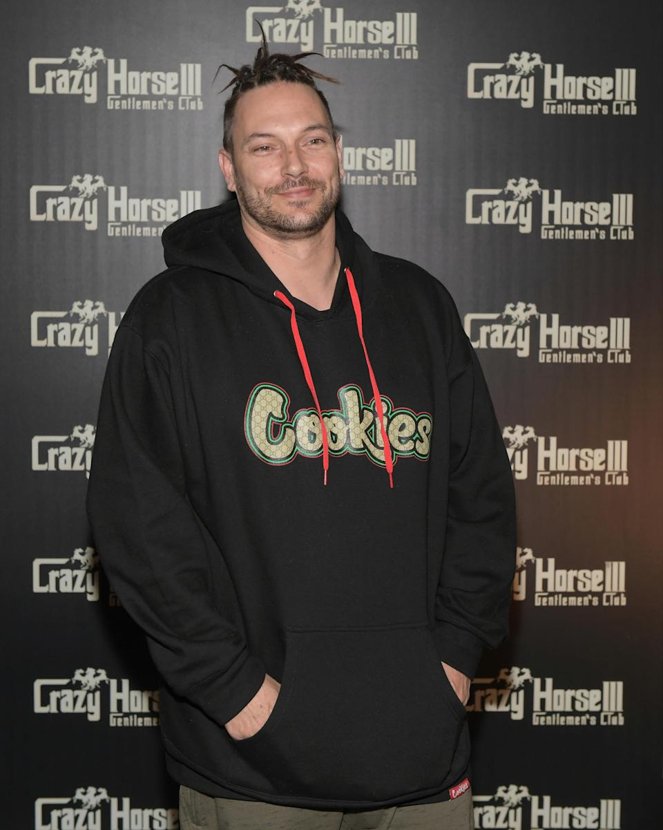 DJ Kevin Federline arrives at the Crazy Horse III Gentlemen's Club to celebrate his birthday on March 24, 2018 in Las Vegas, Nevada