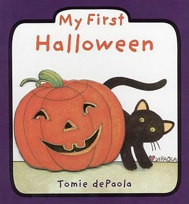 """<p>A <a class=""""link rapid-noclick-resp"""" href=""""https://www.popsugar.com/Halloween"""" rel=""""nofollow noopener"""" target=""""_blank"""" data-ylk=""""slk:Halloween"""">Halloween</a> storytime book! Introduce your little one to all the essential <a class=""""link rapid-noclick-resp"""" href=""""https://www.popsugar.com/Halloween"""" rel=""""nofollow noopener"""" target=""""_blank"""" data-ylk=""""slk:Halloween"""">Halloween</a> traditions - carving jack-o'-lanterns, putting on costumes, and trick-or-treating - with a board book like <span><strong>My First Halloween</strong></span> ($6).</p>"""