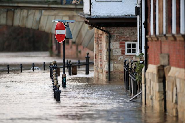The scene in York after the River Ouse burst its banks. (PA)