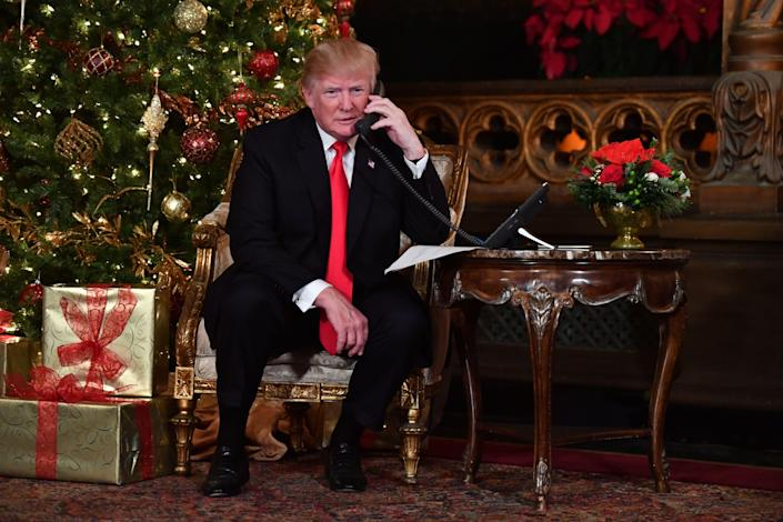 <p>President Trump makes Christmas Eve a federal holiday this year</p> (AFP via Getty Images)