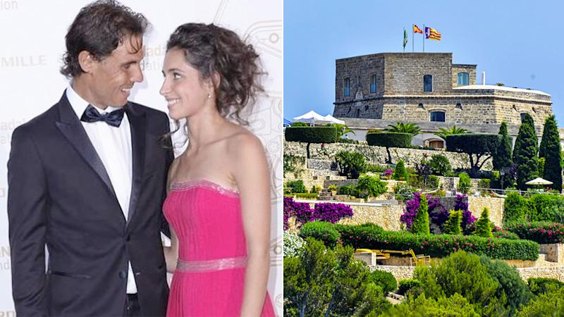 Rafa and girlfriend Xisca got married at a lavish Mallorca venue. Pic: Instagram/AAP
