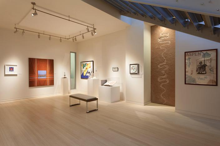 Inside the Resnick Art Gallery, located on the 40-acre property of The Aspen Meadows Resort.
