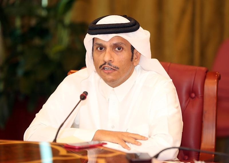 FILER Qatari Foreign Minister Mohammed bin Abdulrahman Al-Thani at a press conference in Doha on June 8, 2017