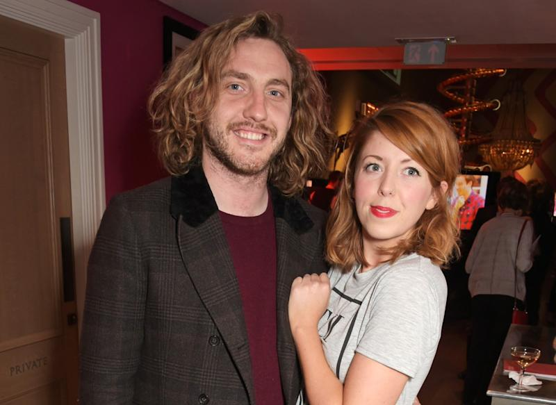 Rebecca Humphries (R) has opened up about her 'manipulative' relationship with former boyfriend Seann Walsh (L) (David M. Benett/Getty)