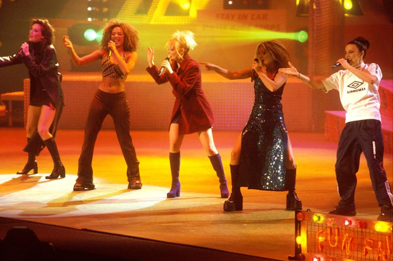 The Spice Girls performing as a five-piece in December 1996 (Photo: Mick Hutson via Getty Images)