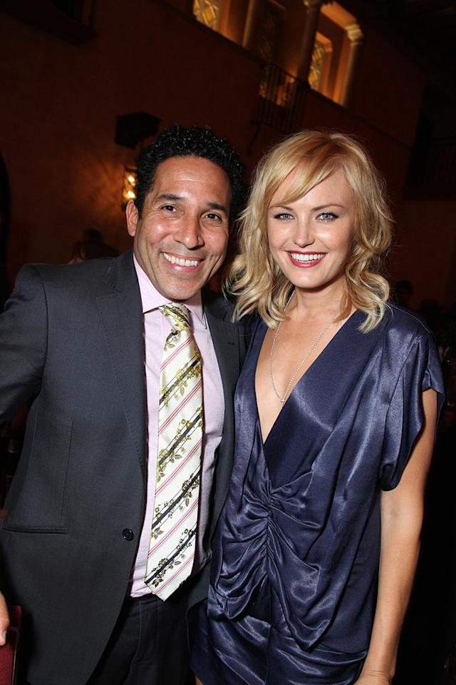 """<a href=""""http://movies.yahoo.com/movie/contributor/1804518221"""">Oscar Nunez</a> and <a href=""""http://movies.yahoo.com/movie/contributor/1808422842"""">Malin Akerman</a> at the Los Angeles premiere of <a href=""""http://movies.yahoo.com/movie/1810012112/info"""">The Proposal</a> - 06/01/2009"""