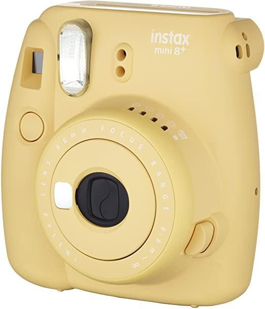 """<h2>Fujifilm Instax Mini 8+<br></h2><br>A true crowd-pleaser than will delight any analog-technology junkie, no matter their age.<br><br><strong>Fujifilm</strong> Mini 8+, $, available at <a href=""""https://www.amazon.com/dp/B014CGONWS"""" rel=""""nofollow noopener"""" target=""""_blank"""" data-ylk=""""slk:Amazon"""" class=""""link rapid-noclick-resp"""">Amazon</a>"""