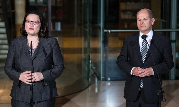 Andrea Nahles und Olaf Scholz.
