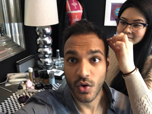 <p>Getting ready for the @todayshow w/@janicekinjo!!!! Sometimes when it's early AF you need a little help looking good!!!! </p>