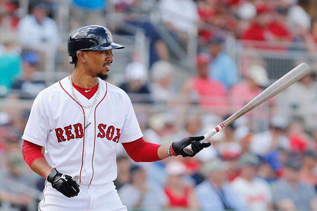 Mookie Betts doesn't see an extension in his future. (Photo by Michael Reaves/Getty Images)