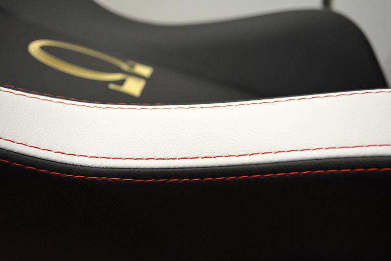 The red stitching goes especially well with the white paneling on the Classic version.