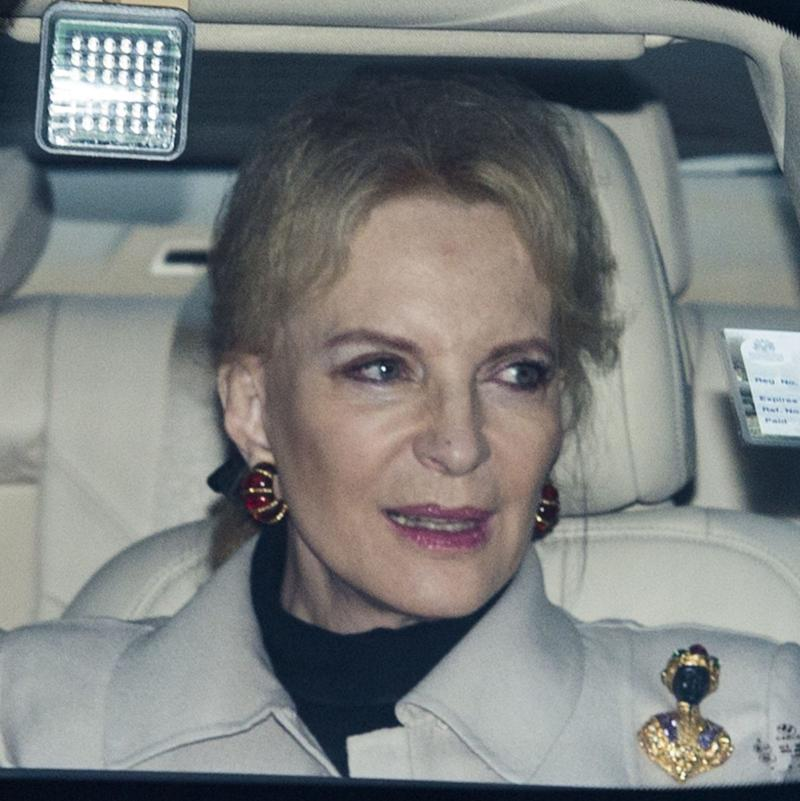 Princess Michael of Kent arrives for lunch at Buckingham Palace  - UK Press