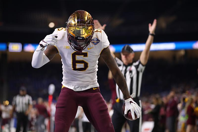 Minnesota WR Tyler Johnson eventually embraced the leadership role the Gophers coaches put on him (Getty Images).
