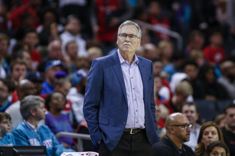 """Though he is at a higher risk for contracting the coronavirus, Rockets coach Mike D'Antoni has """"no reservations"""" about coaching again this season."""