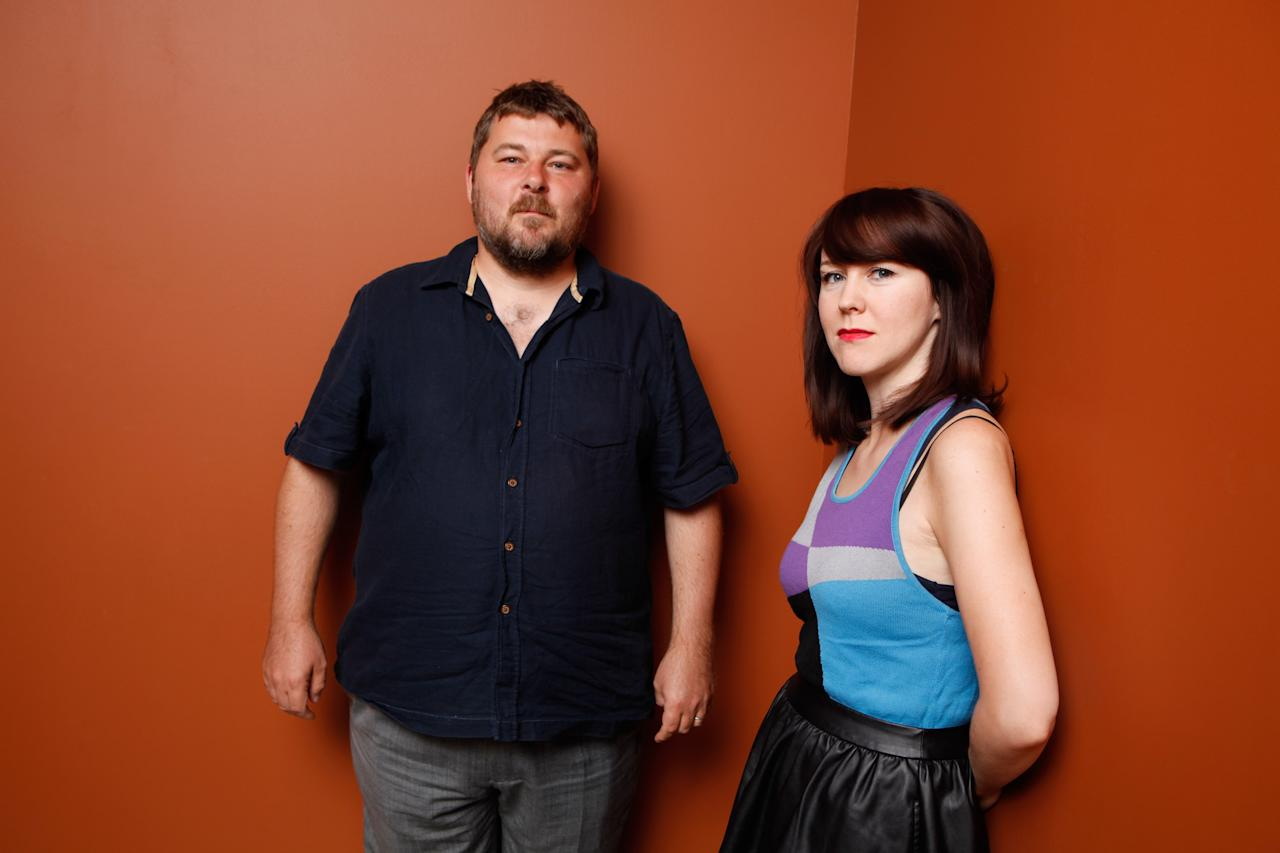 """TORONTO, ON - SEPTEMBER 12:  Director Ben Wheatley and writer Alice Lowe of """"Sightseers"""" pose at the Guess Portrait Studio during 2012 Toronto International Film Festival on September 12, 2012 in Toronto, Canada.  (Photo by Matt Carr/Getty Images)"""
