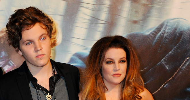 Ben Keough and Lisa Marie Presley attend the World Premiere of Harry Potter And The Deathly Hallows: Part 1 at Odeon Leicester Square on November 11, 2010 in London, England. (Photo by Dave M. Benett/Getty Images)