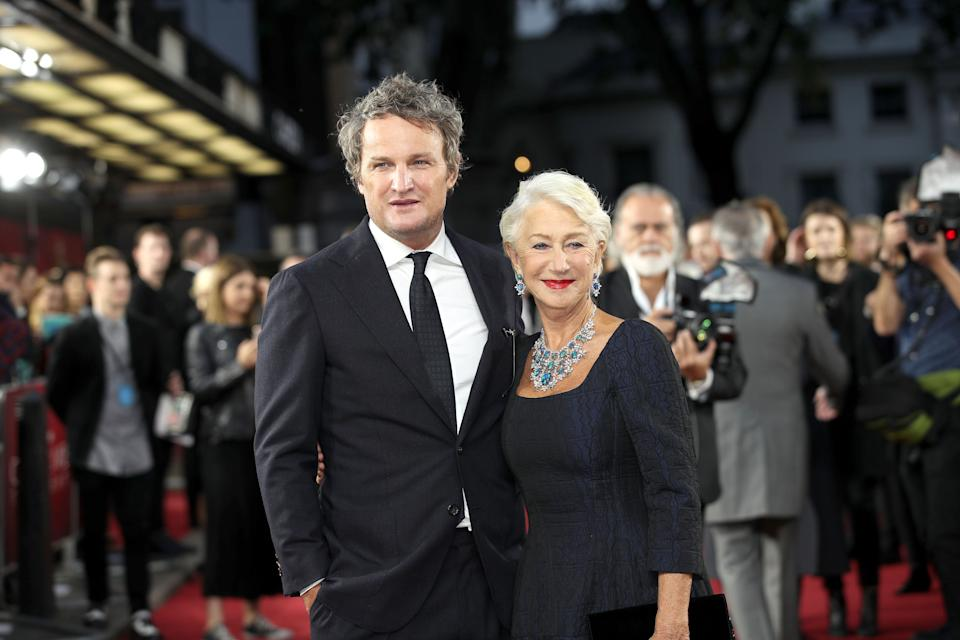 """Jason Clarke and Helen Mirren attend the """"Catherine The Great"""" UK TV Premiere on September 25, 2019. (Photo by Mike Marsland/WireImage)"""