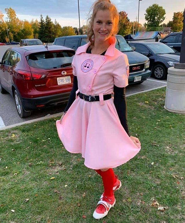"<p>There may be no crying in baseball, but there are plenty of cute costumes...</p><p><a class=""link rapid-noclick-resp"" href=""https://www.amazon.com/Rockford-Peaches-Costume-Baseball-Uniform/dp/B07YZR2C1Z/?tag=syn-yahoo-20&ascsubtag=%5Bartid%7C10055.g.34302275%5Bsrc%7Cyahoo-us"" rel=""nofollow noopener"" target=""_blank"" data-ylk=""slk:SHOP 'A LEAGUE OF THEIR OWN' COSTUMES"">SHOP 'A LEAGUE OF THEIR OWN' COSTUMES </a></p><p><a href=""https://www.instagram.com/p/CGBfpAjnsm3/&hidecaption=true"" rel=""nofollow noopener"" target=""_blank"" data-ylk=""slk:See the original post on Instagram"" class=""link rapid-noclick-resp"">See the original post on Instagram</a></p>"
