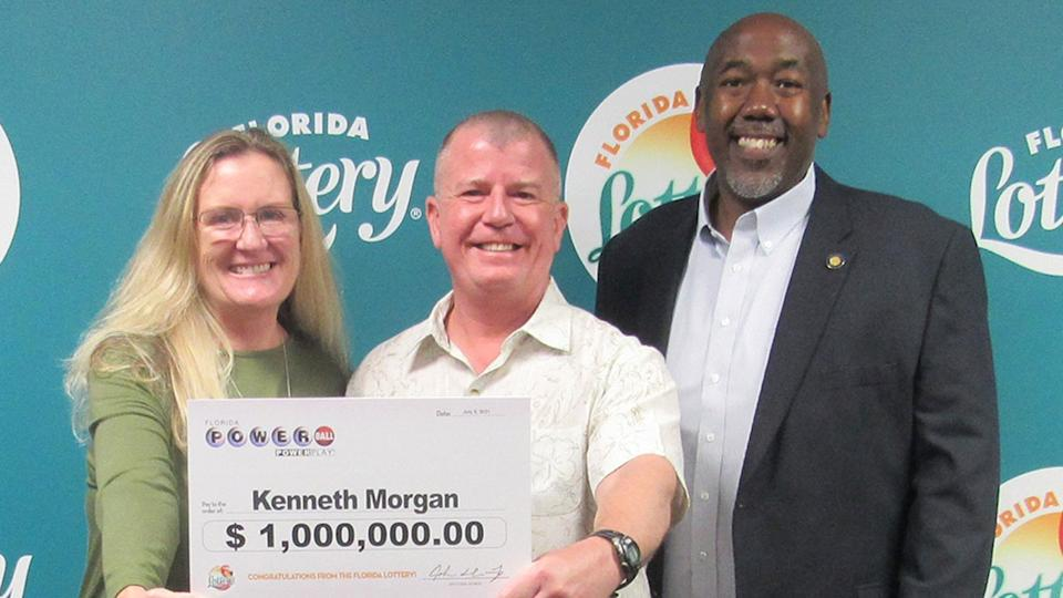 Kenneth Morgan found a winning lottery ticket while he was cleaning his home. Source: Twitter/@floridalottery