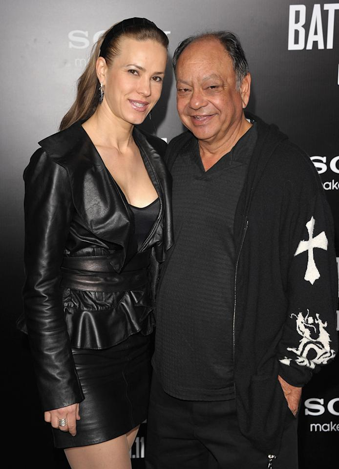 "<a href=""http://movies.yahoo.com/movie/contributor/1800023911"">Cheech Marin</a> and guest at the Los Angeles premiere of <a href=""http://movies.yahoo.com/movie/1810119633/info"">Battle: Los Angeles</a> on March 8, 2011."