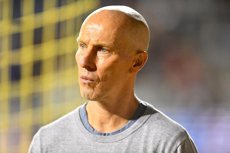 CHESTER, PA - SEPTEMBER 14: LAFC Head Coach Bob Bradley leaves the field after the game between LAFC and the Philadelphia Union on September 14, 2019 at Talen Energy Stadium in Chester, PA. (Photo by Kyle Ross/Icon Sportswire via Getty Images)