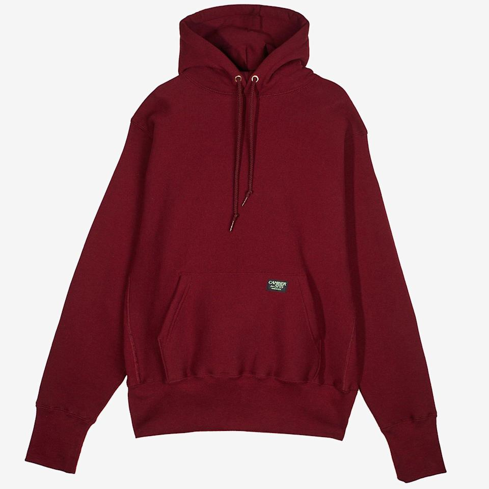 """<p><strong>Camber x SNS</strong></p><p>sneakersnstuff.com</p><p><strong>$119.00</strong></p><p><a href=""""https://go.redirectingat.com?id=74968X1596630&url=https%3A%2F%2Fwww.sneakersnstuff.com%2Fen%2Fproduct%2F49916%2Fcamber-hoodie-x-sns&sref=https%3A%2F%2Fwww.esquire.com%2Fstyle%2Fmens-fashion%2Fg36368267%2Fbest-new-menswear-may-7-2021%2F"""" rel=""""nofollow noopener"""" target=""""_blank"""" data-ylk=""""slk:Shop Now"""" class=""""link rapid-noclick-resp"""">Shop Now</a></p><p>For everyone who looked at Everlane's summer-weight hoodie and muttered, """"No thanks, I like my hoodies to be heavyweight and basically bulletproof,"""" allow me to present Camber's team-up with Sneakersnstuff.</p>"""