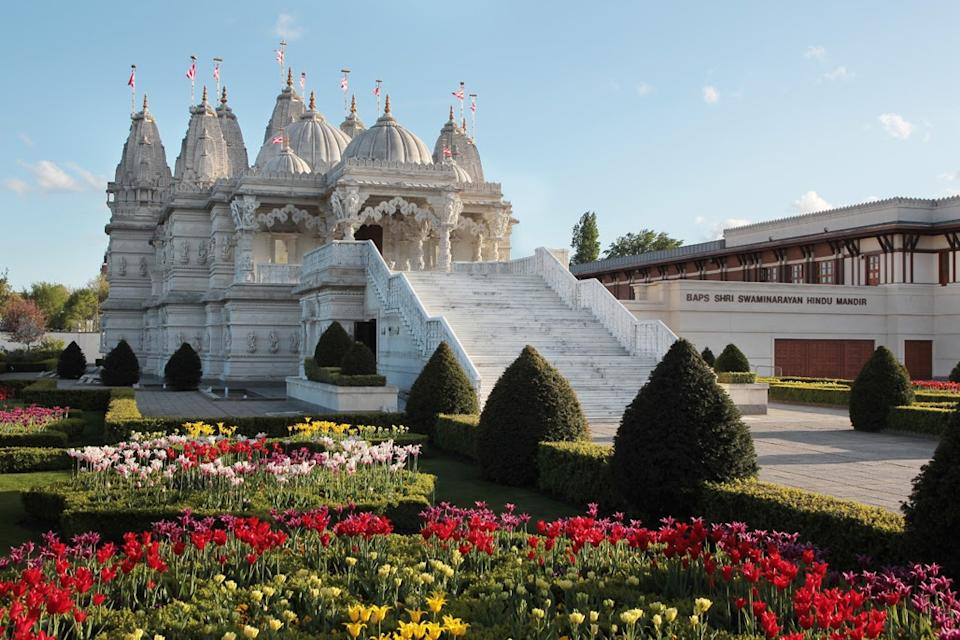 More than 80,000 jabs to date have been administered at Neasden Temple in north-west London. (BAPS Swaminarayan Sanstha, UK)