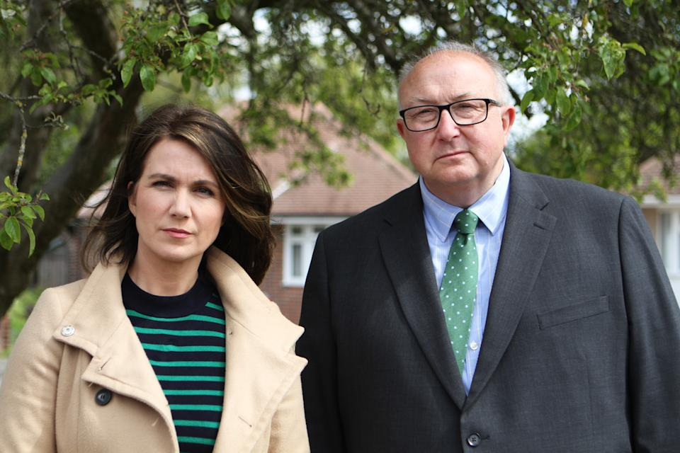 Embargoed picture: For publication from Tuesday 21st September 2021From Optomen Television THE REAL MANHUNT Thursday 30th September 2021 on ITV Pictured: (l-r) Susanna Reid with Former Police Senior Investigating Officer Colin Sutton