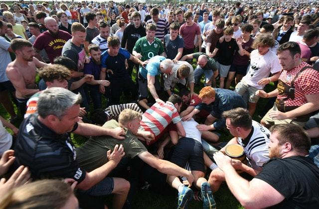 Hallaton hare pie scramble and bottle kicking