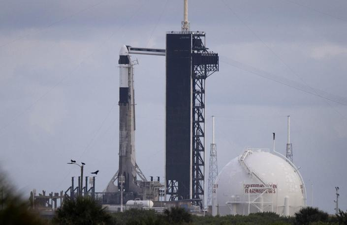 The SpaceX Falcon 9 rocket and Crew Dragon capsule
