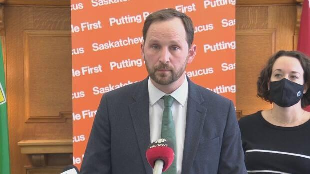 Saskatchewan Opposition Leader Ryan Meili and Deputy Leader Nicole Sarauer said the government is not allowing proper oversight of its pandemic decisions. (Matt Duiguid/CBC - image credit)
