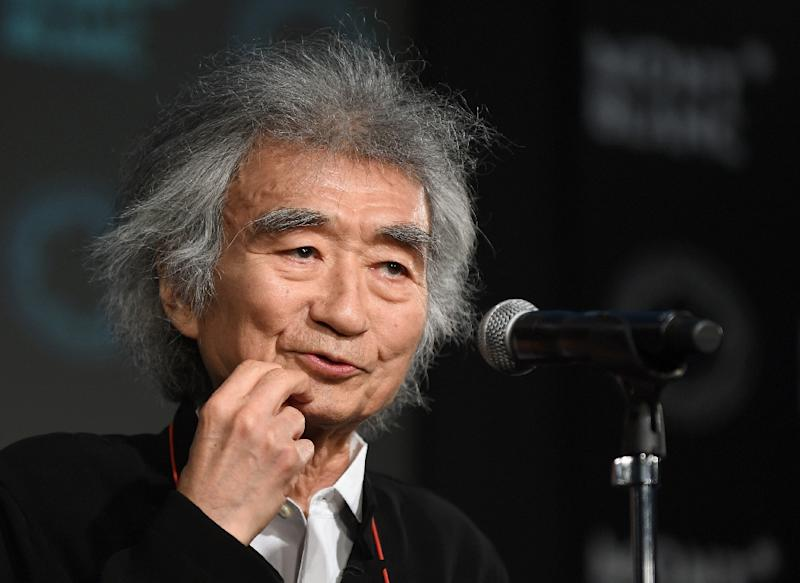Seiji Ozawa has cancelled plans to lead an opera later this month in central Japan after suffering a hip fracture (AFP Photo/Toru Yamanaka)