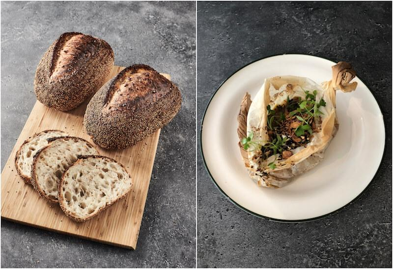 Sprouted wheat sourdough and Kuhlbarra Barramundi en Papillote. Photo: Baker & Cook