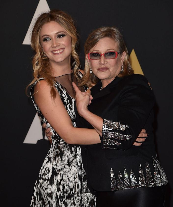 """<p><strong>Famous parent(s): </strong>actress and writer Carrie Fisher and talent agent Bryan Lourd; granddaughter to Debbie Reynolds<br><strong>What it was like: </strong>""""I've always kind of lived in their shadows, and now is the first time in my life when I get to own my life and stand on my own,"""" <a href=""""https://www.vanityfair.com/style/2017/08/billie-lourd-carrie-fisher-interview"""" rel=""""nofollow noopener"""" target=""""_blank"""" data-ylk=""""slk:she's said"""" class=""""link rapid-noclick-resp"""">she's said</a>. """"I love being my mother's daughter, and it's something I always will be, but now I get to be just Billie.""""</p>"""