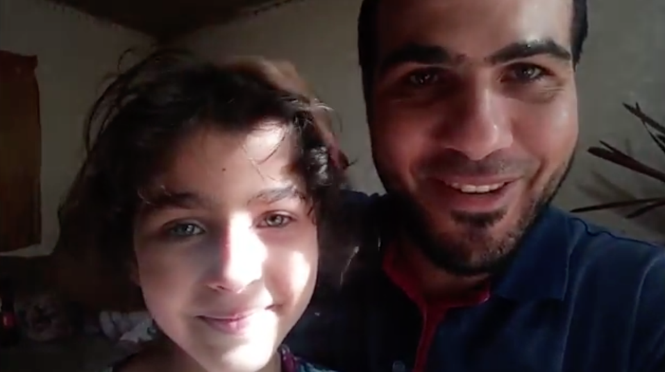 Ahmed al -Mansi with one of his daughters (Al-Mansi family)
