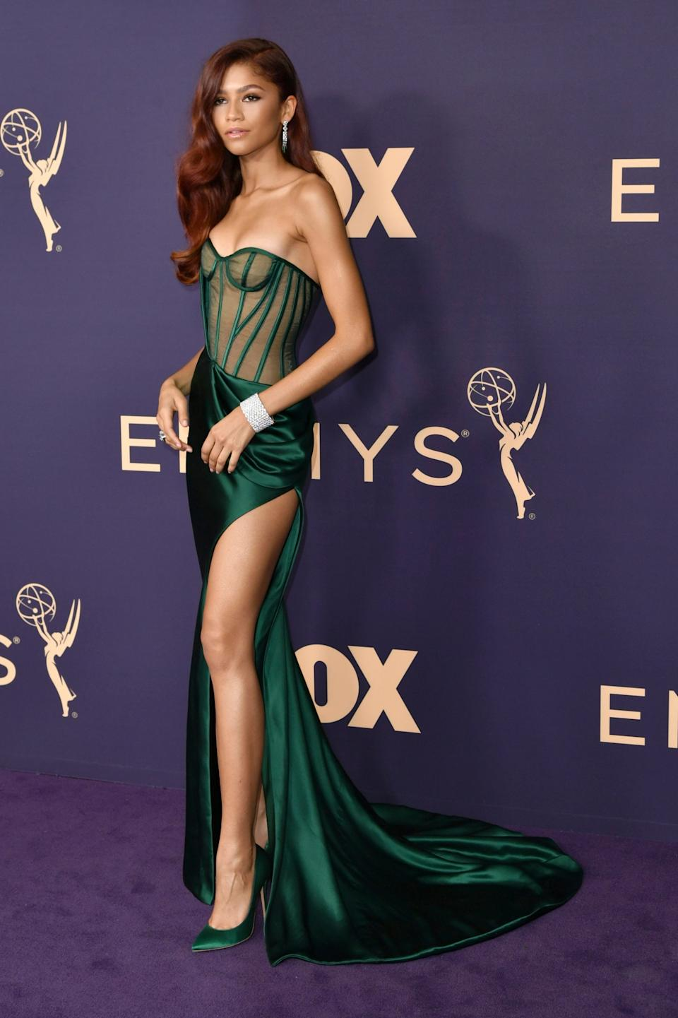 Zendaya at the 2019 Emmys (Invision/AP)