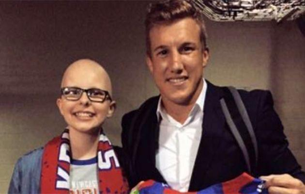 Hannah was a massive Knights fan and first met Trent in 2016. Photo: Twitter