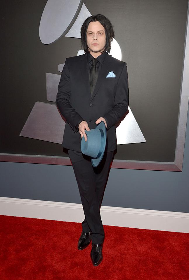 Jack White arrives at the 55th Annual Grammy Awards at the Staples Center in Los Angeles, CA on February 10, 2013.