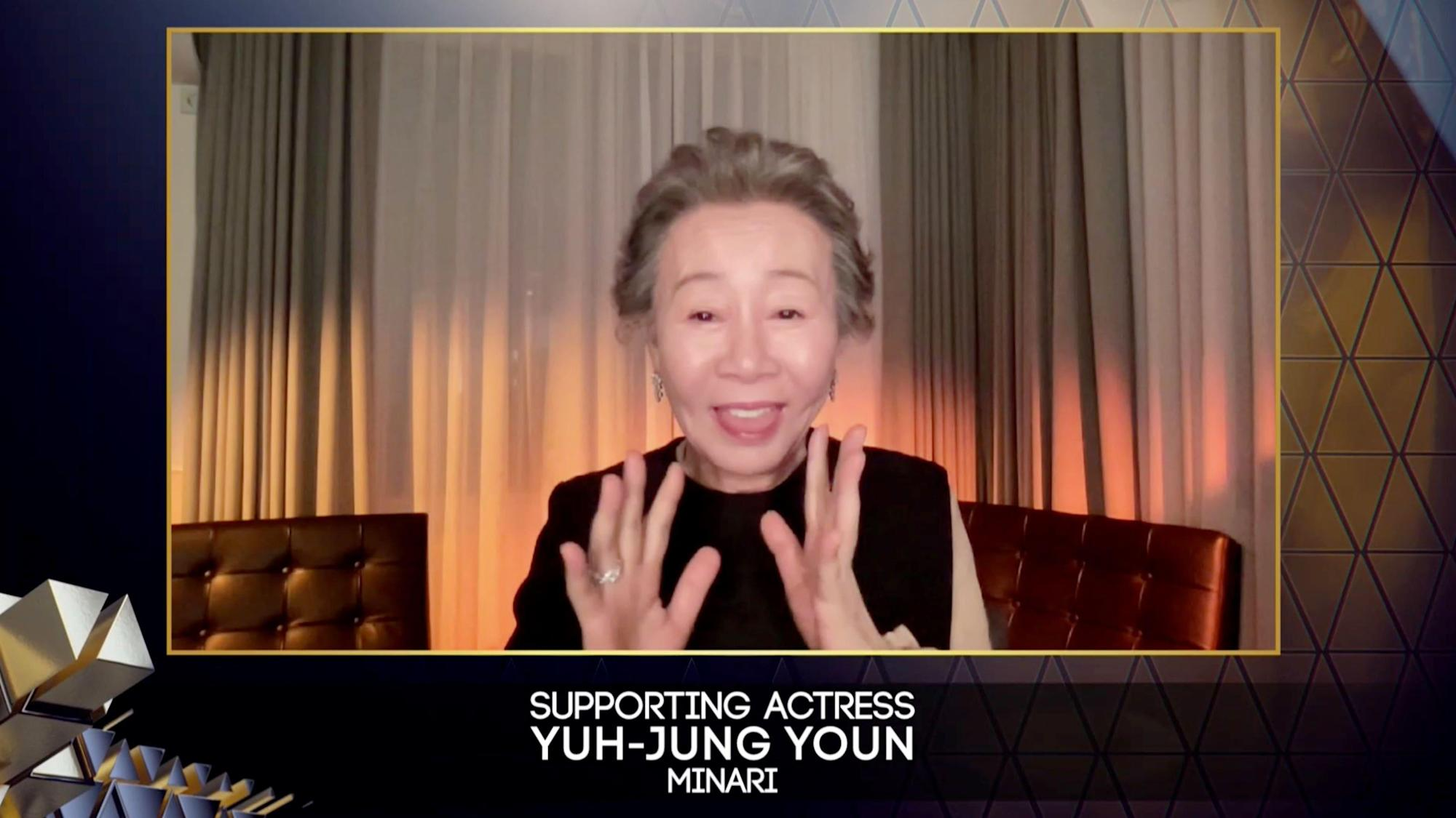 Korean actress Yuh-Jung Youn thanks 'snobbish' Brits after Bafta win