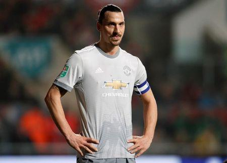 Soccer Football - Carabao Cup Quarter Final - Bristol City vs Manchester United - Ashton Gate Stadium, Bristol, Britain - December 20, 2017 Manchester United's Zlatan Ibrahimovic REUTERS/David Klein