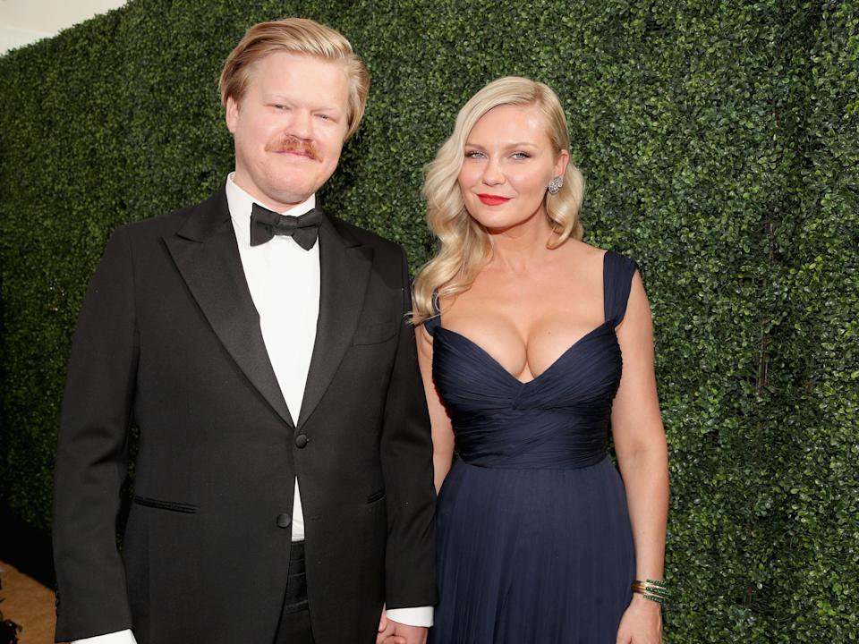 0th ANNUAL PRIMETIME EMMY AWARDS -- Pictured: Jesse Plemons (L) and Kirsten Dunst arrive to the 70th Annual Primetime Emmy Awards held at the Microsoft Theater on September 17, 2018.