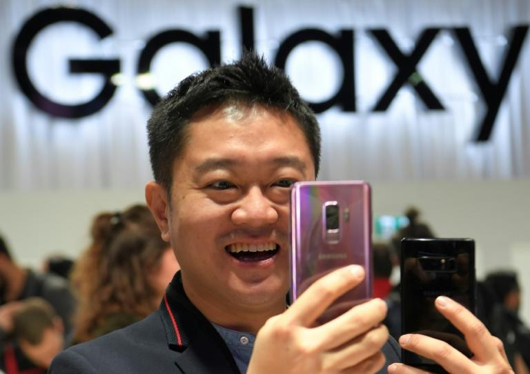 The new Samsung Galaxy S9 smartphone was launched at the Mobile World Congress in Barcelona