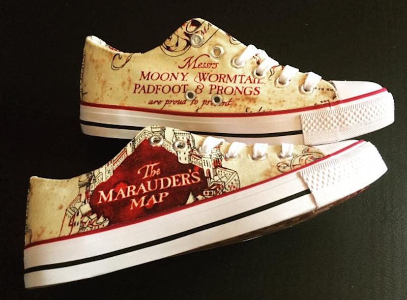 """<a href=""""https://fave.co/34MB3hS"""">Harry Potter Inspired Shoes, Mr Spuds, Etsy, </a>&pound;39.99 (Photo: Huffington Post UK )"""