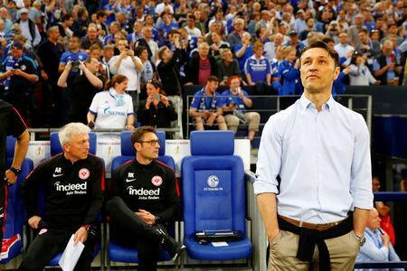 Soccer Football -DFB Cup - Schalke 04 vs Eintracht Frankfurt - Veltins-Arena, Gelsenkirchen, Germany - April 18, 2018 Eintracht Frankfurt coach Niko Kovac before the match REUTERS/Wolfgang Rattay