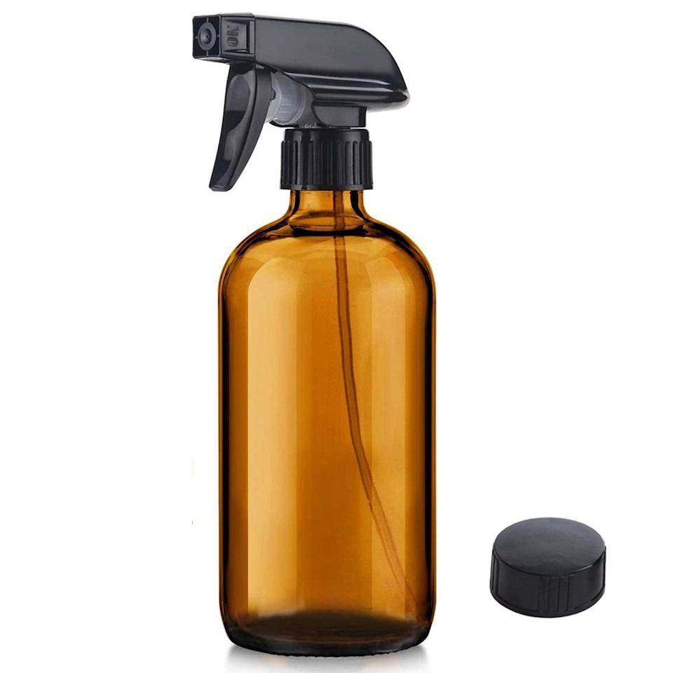"<h3>Niuta Amber Glass Spray Bottle <br></h3><br>""I bought a prayer plant, and it quickly entered that <a href=""https://www.refinery29.com/en-us/how-to-keep-plants-alive-home-pandemic"" rel=""nofollow noopener"" target=""_blank"" data-ylk=""slk:'alive but not thriving' stage that houseplants can enter"" class=""link rapid-noclick-resp"">'alive but not thriving' stage that houseplants can enter</a> before dying for real. I learned that misting it with water every few days might help, so I got this. The spray is perfect and it looks chic enough to leave out by my houseplant between uses. It's also glass, so it's safe to add essential oils to it if you want to use it to store DIY cleaning spray instead of plain water."" — <em>MZ</em><br><br><strong>NIUTA</strong> Amber Glass Spray Bottles, $, available at <a href=""https://www.amazon.com/Bottle-Bottles-Essential-Cleaning-Products/dp/B089WG4FK5/ref=sr_1_9?dchild=1&keywords=amber+glass+spray+bottle&qid=1618241383&sr=8-9"" rel=""nofollow noopener"" target=""_blank"" data-ylk=""slk:Amazon"" class=""link rapid-noclick-resp"">Amazon</a>"