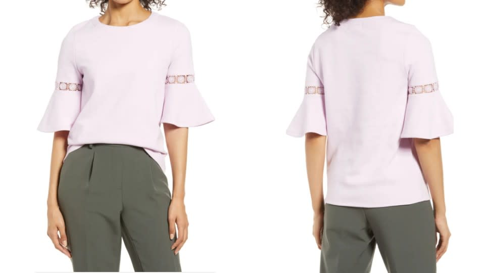Everleigh Lace Accent Bell Sleeve Cotton Blend Knit Top - Nordstrom, $32 (originally $54)
